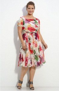 15 opciones de hermosos vestidos de fiesta para gorditas estampados (9)