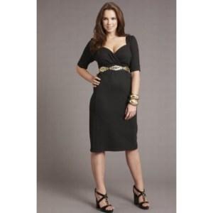 Vestidos de fiesta a la rodilla para gorditas 2015 (6)