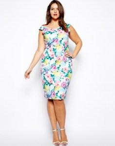 10 Nuevos modelos de vestidos de fiesta para gorditas con flores (6)