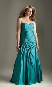 10 vestidos de fiesta para gorditas azul turquesa (2)