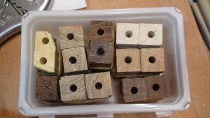 Les bois doivent etre préparés en carrelets prets à tournés