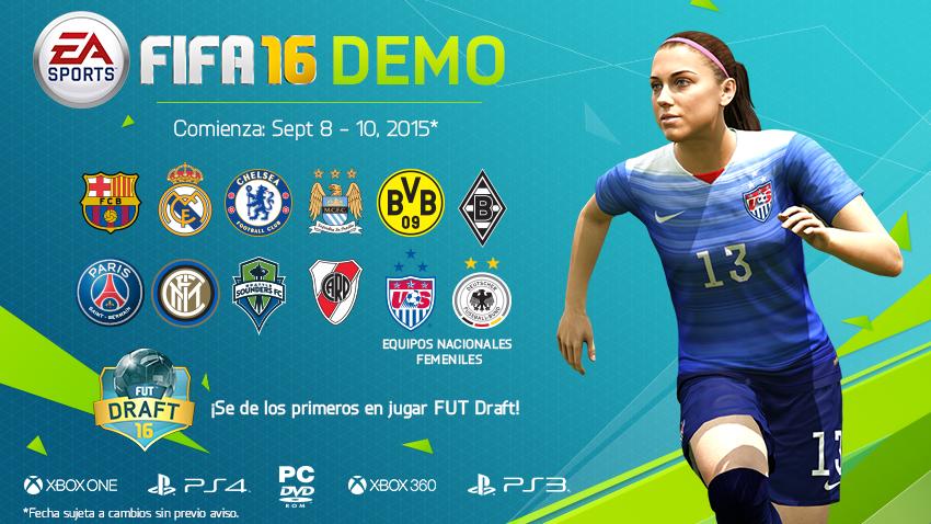 JUEGA UN PARTIDO RÁPIDO O PRUEBA EL NUEVO FUT DRAFT EN EL DEMO DE FIFA 16