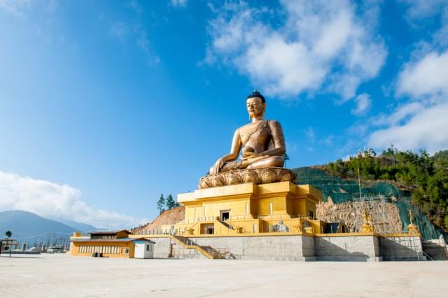 Estátua de Buda em Thimphu, capital do Butão