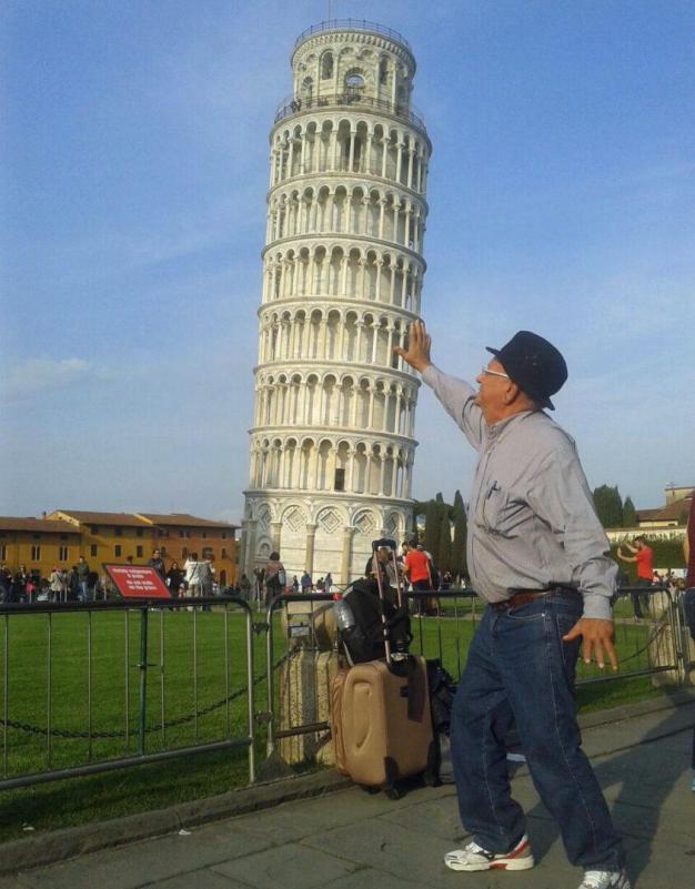 Europa na melhor idade_Torre de Pisa_Viajando bem e barato