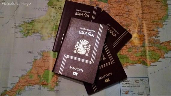 Pasaportes seguro de viajes