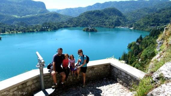 Vistas Bled Eslovenia en furgo