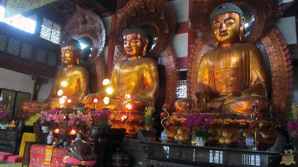 Guangzhou tres budas gigantes