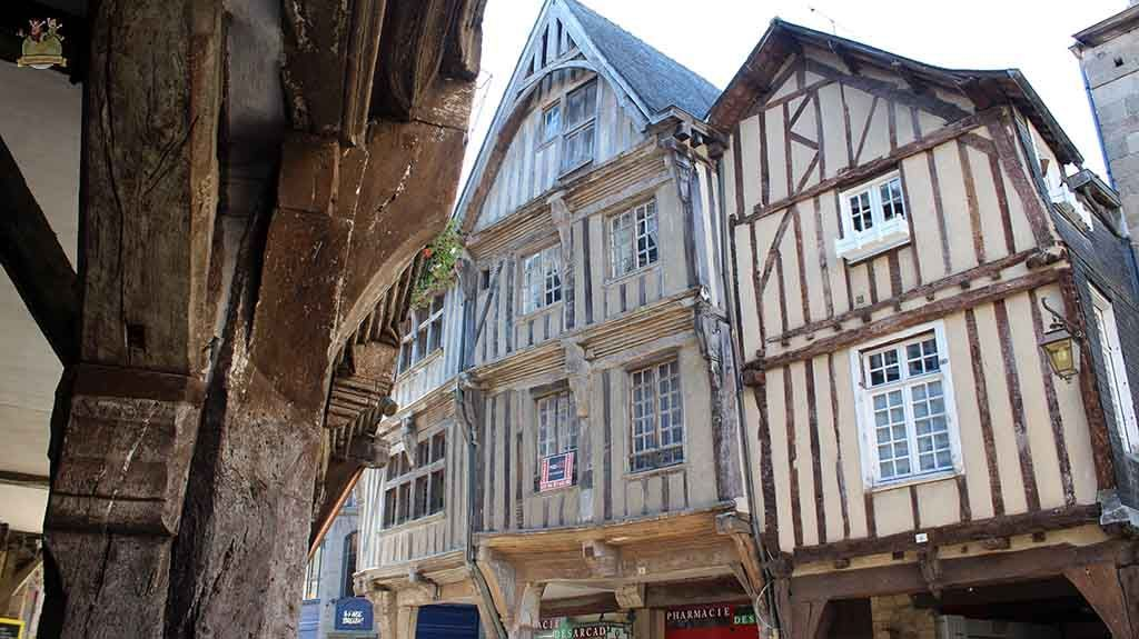 Dinan, casas de entramado de madera