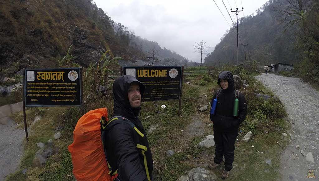 inicio trekking al Campamento Base del Annapurna