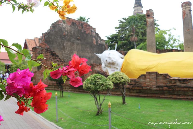 Ruta por los templos en ruinas de Ayutthaya