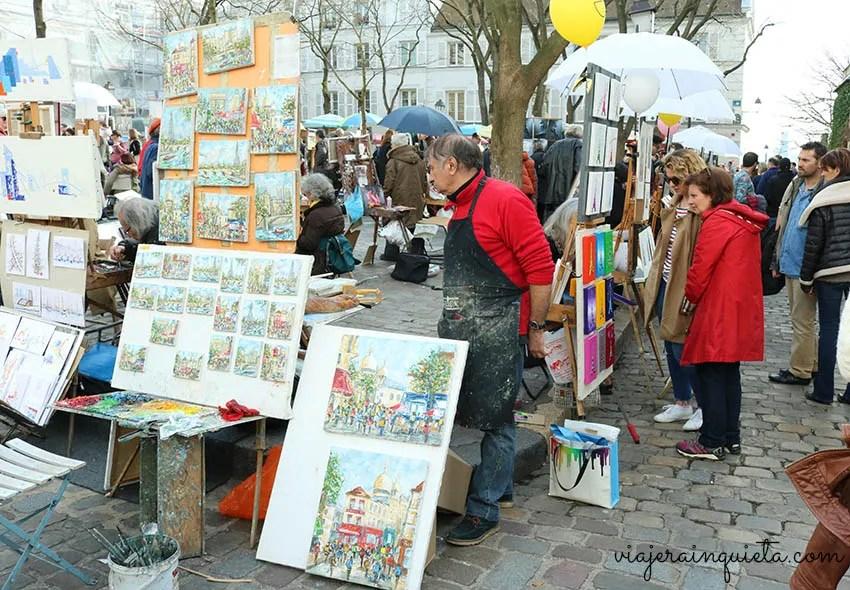 Barrio de pintores Paris Montmartre