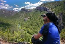 vista aérea del río Tajo en el Hundido de Armallones