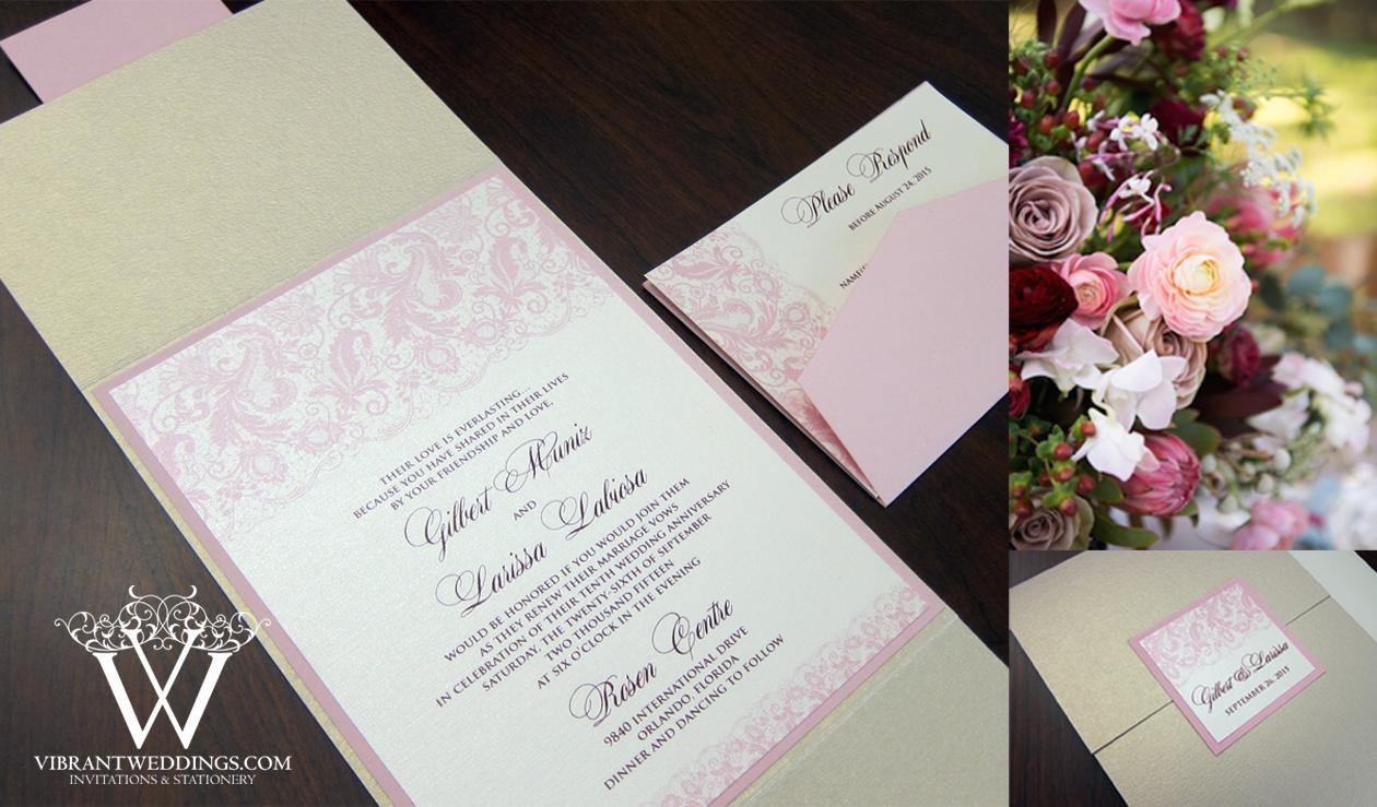 spanish invitations blush wedding invitations Seashell Champagne Blush and Marsala colored wedding invitation with Digital Lace Design