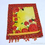 Summer Flowers Gratitude Flag – Mixed Media Fabric Collage with Jacquard