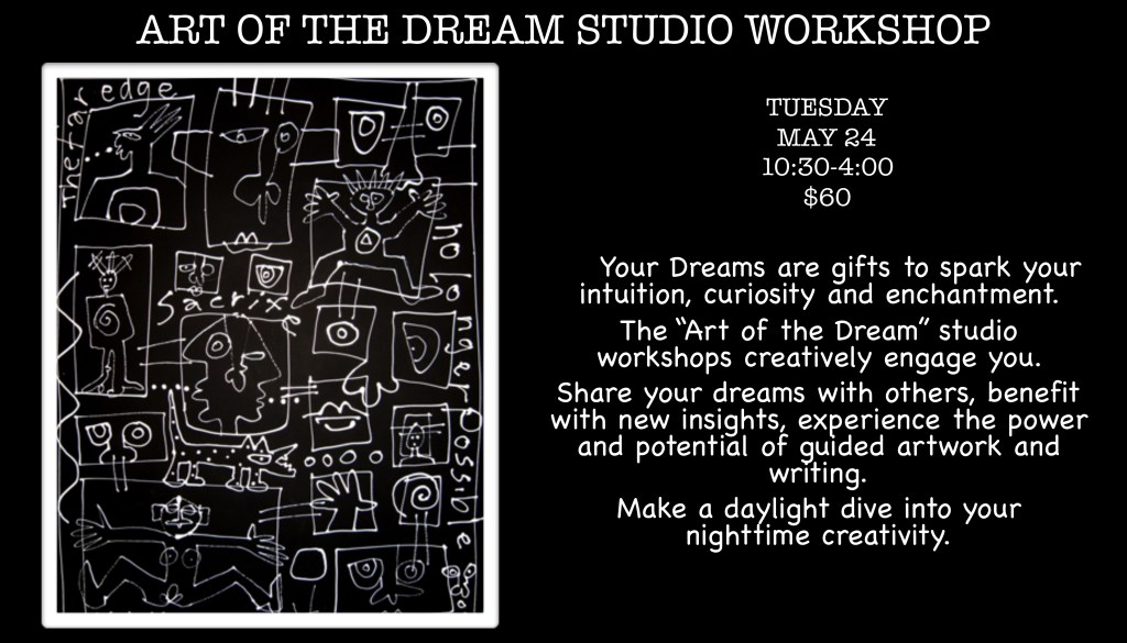 ART OF THE DREAM WORKSHOPS May 2016 Victoria Rabinowe Dream Weaver Art of the Dream Dreaming Arts victoriadreams@mac.com victoriadreams.com Santa Fe, NM