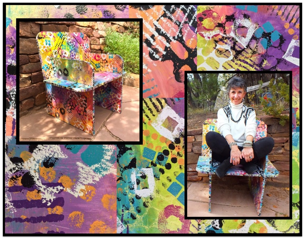 PAINTED CHAIRS – Victoria Rabinowe – www.VictoriaDreams.com – DreamingArts@gmail.com @ - @VictoriaDreams_in_SantaFe