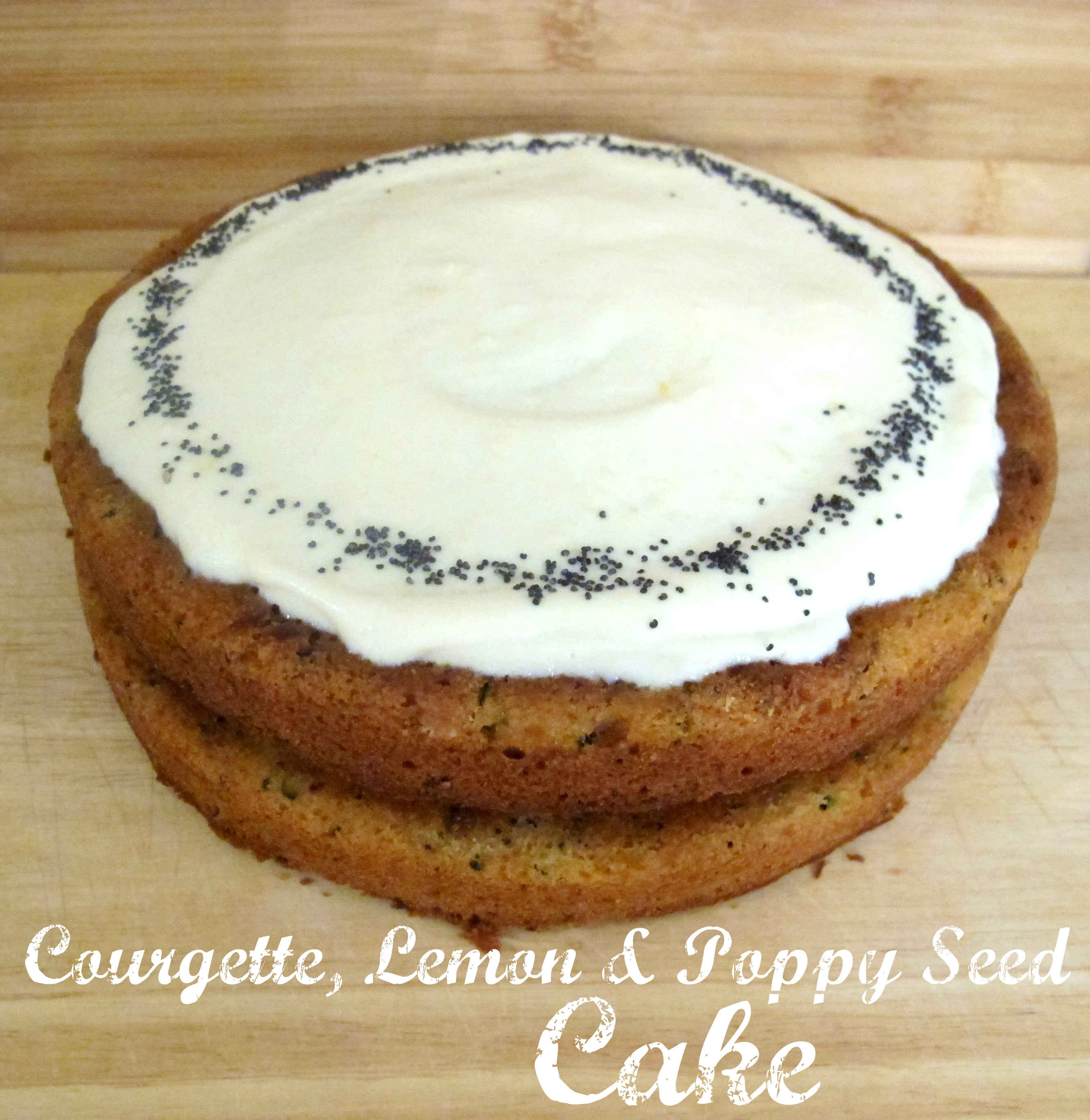 Courgette Cake With Lemon And Poppy Seed Frosting