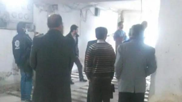 صورة للمصلى وقوات البلدية بداخله
