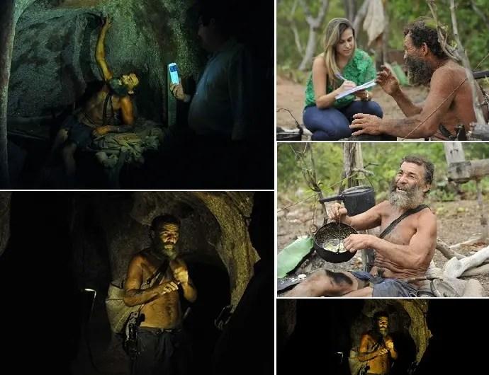 أنطونيو كالادو، كما صوروه داخل بيته المحفور في التربة وخارجه