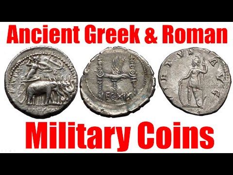 Ancient Greek And Roman Military On Coins The Weapons Battles