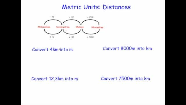 Metric units length