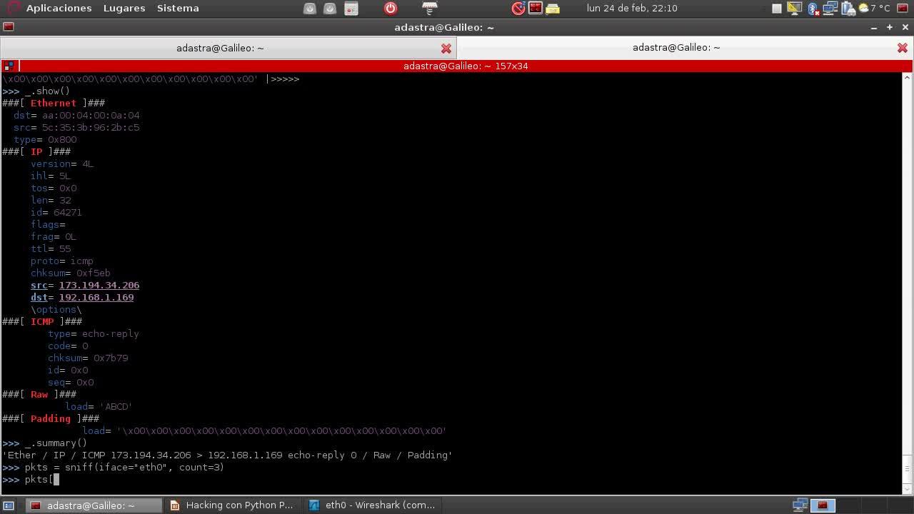 Hacking con Python Parte 5 – Conceptos Básicos sobre Scapy