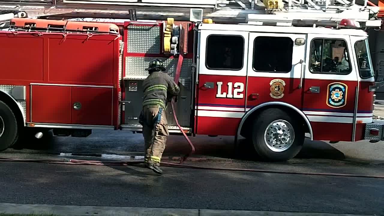 Triple Split vehicle fire simulation