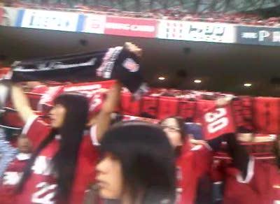 célébration de la victoire Urawa Reds