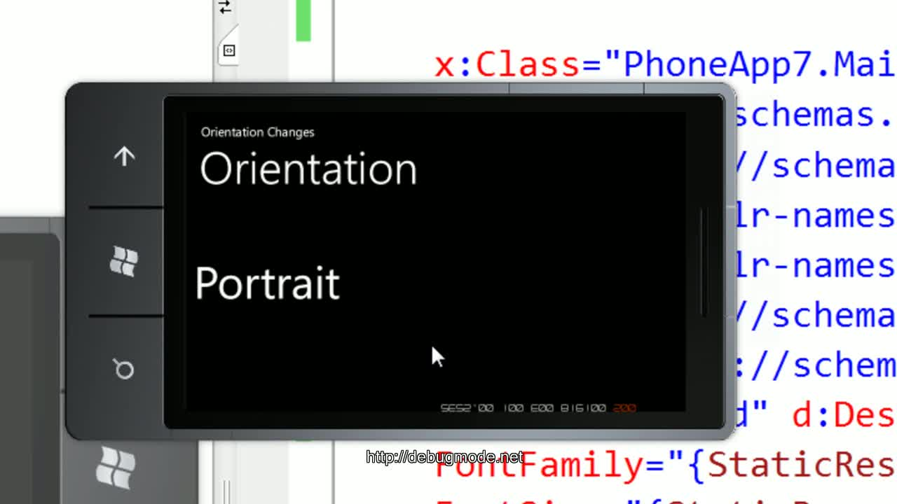 Video on OrientationChanges in WindowsPhone7