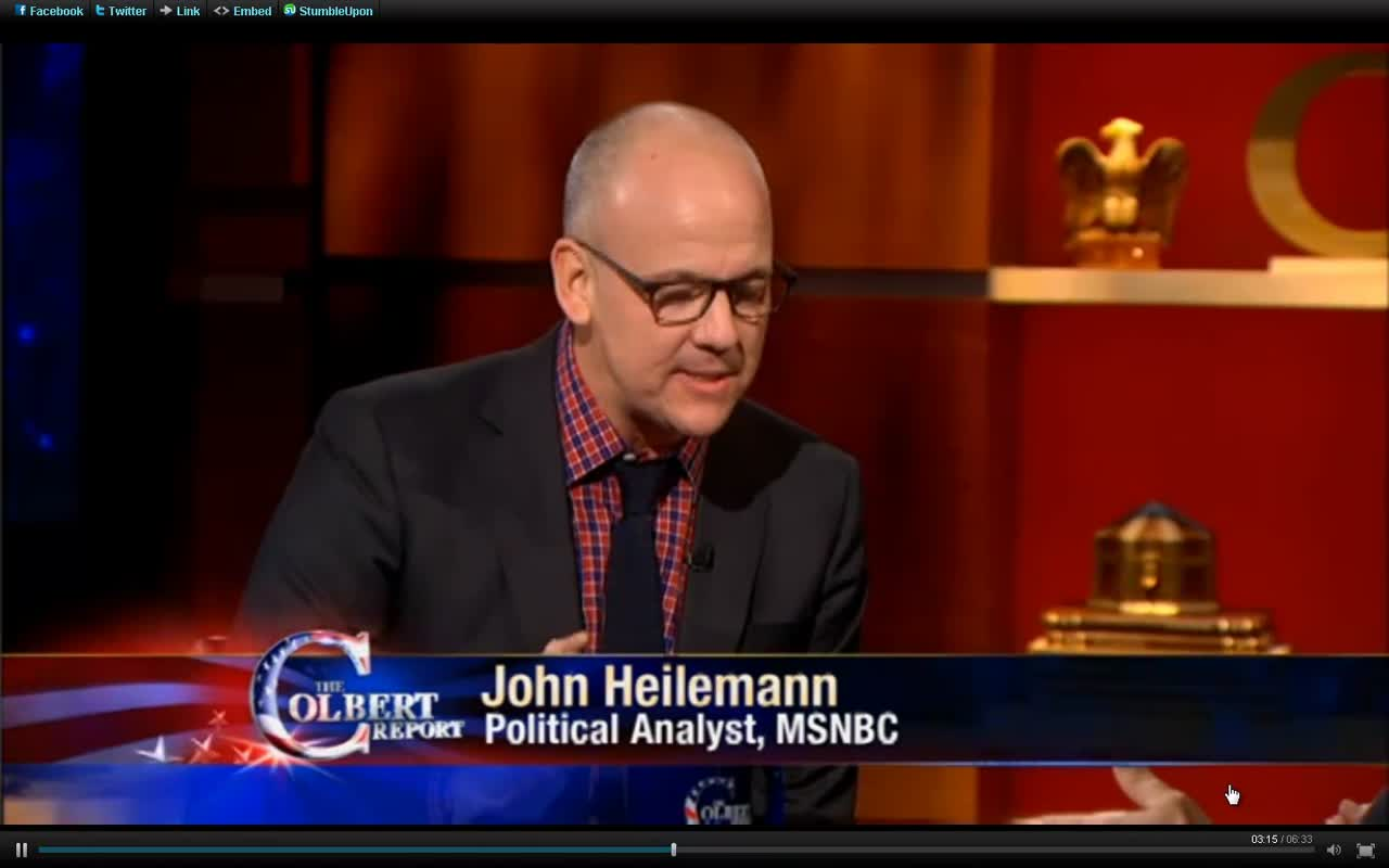 Journalist, John Heilemann Looks at SAINT RICK SANTORUM'S FUTURE (sic)