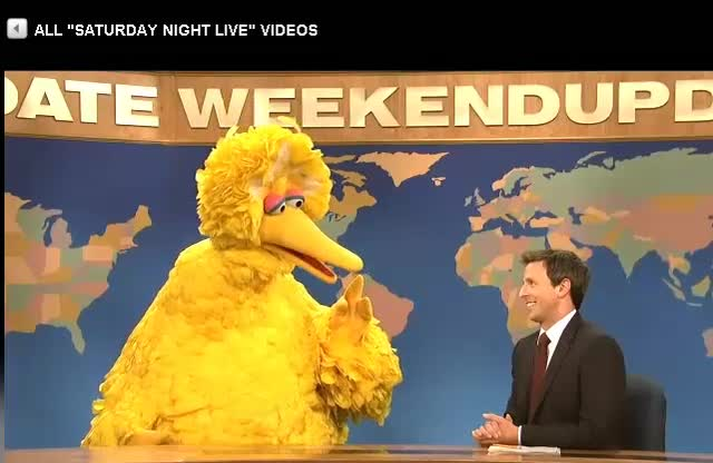 SNL Weekend Update with Big Bird
