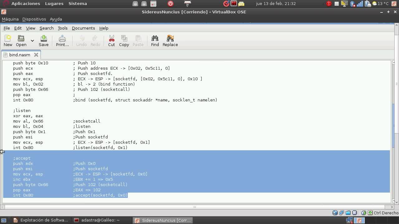 Explotación de Software Parte 32 – Desarrollo de Shellcodes en Linux – Bind Shell