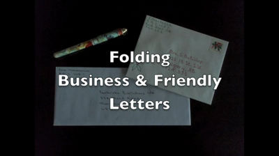 Folding Business &amp; Friendly Letters