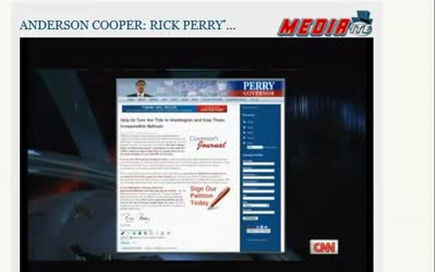 CNN Anderson Cooper Perry Jobs 090711