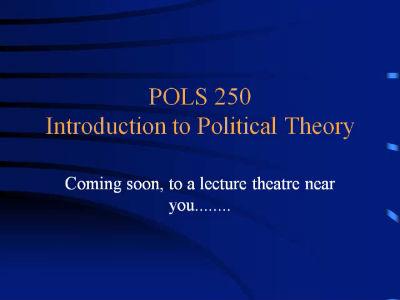 POLS 250 (Trailer)