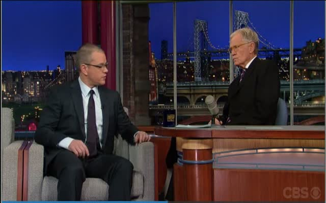 David Letterman – Matt Damon does Dave's favorite impression