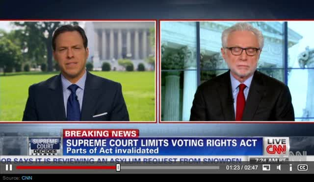 SCOTUS GUTS VOTING RIGHTS ACT