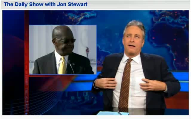 Comedy Central The Daily Show Jon Stewart Farewell Herman Cain 12-5-11