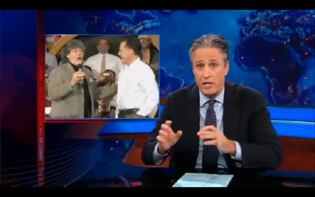 2 THE DAILY SHOW – Jon Stewart – 03-12-12 on Romney in the South