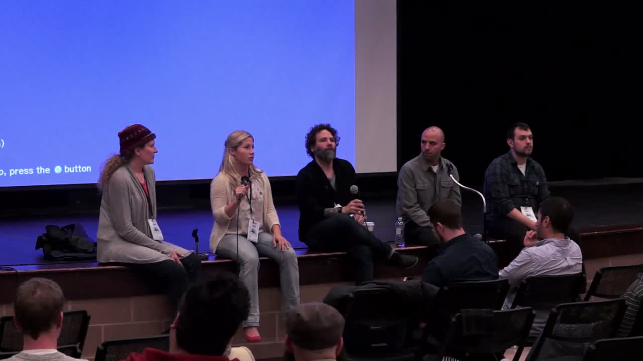 John Botte, Jason Narciso, Michael Chevalier, Lindsay Logan, Valerie: Panel on Developer/Designer/Strategist Communication