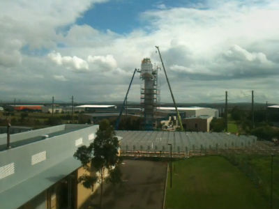 CSIRO Solar Tower &#8211; time lapse, 7 March 2011