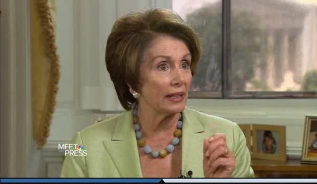 LEADER PELOSI INTERVIEWED