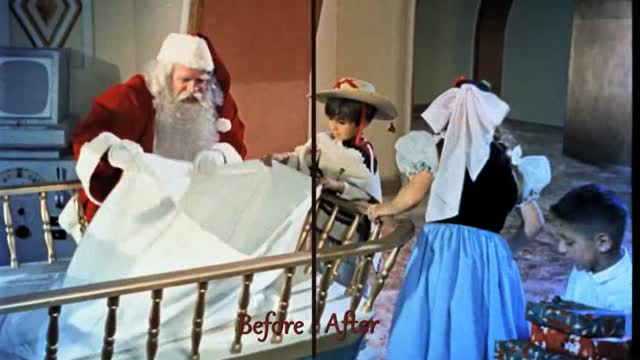 Santa Claus Before and after