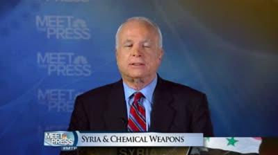 Senator McCain on Syrian Crisis