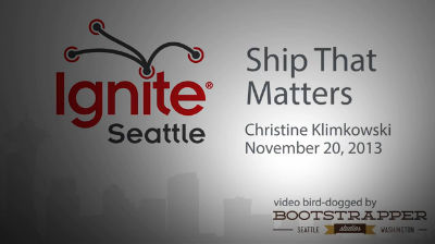 Christine Klimkowski – Ship That Matters