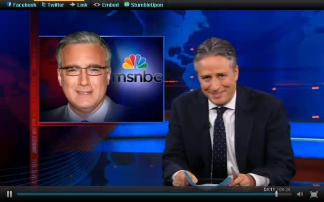 Daily Show – Jon Stewart – MSNBC…and CNN