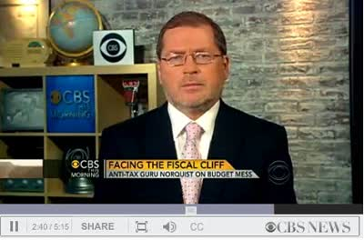 CBS INTERVIEWS GROVER NORQUIST