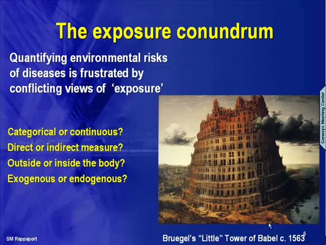 Frontiers in Exposure Science – Rappaport introduces the epidemiologic approach of nature vs nurture