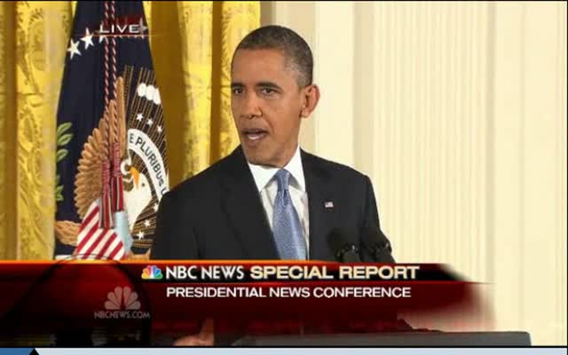 President Obama's Press Conference 11-14-12