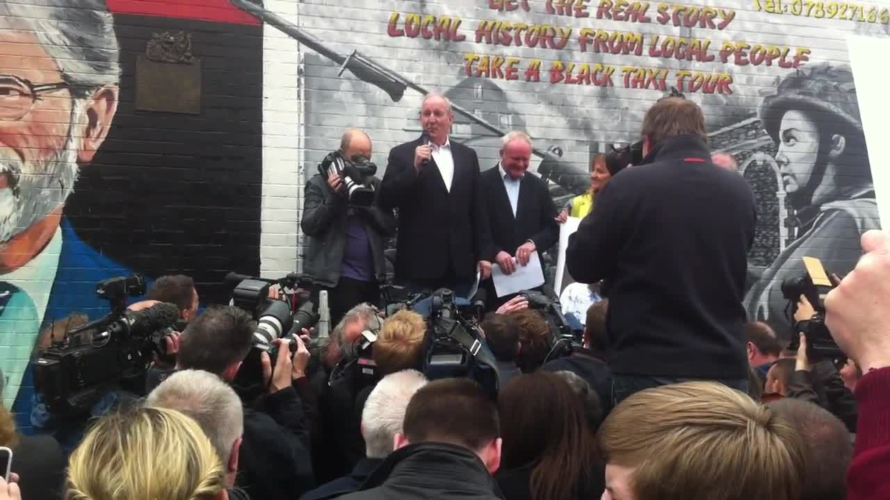 Launch of Mural in support of Gerry Adams May 2014